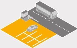 Airport car park graphic