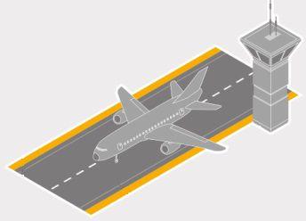 Airport runway graphic