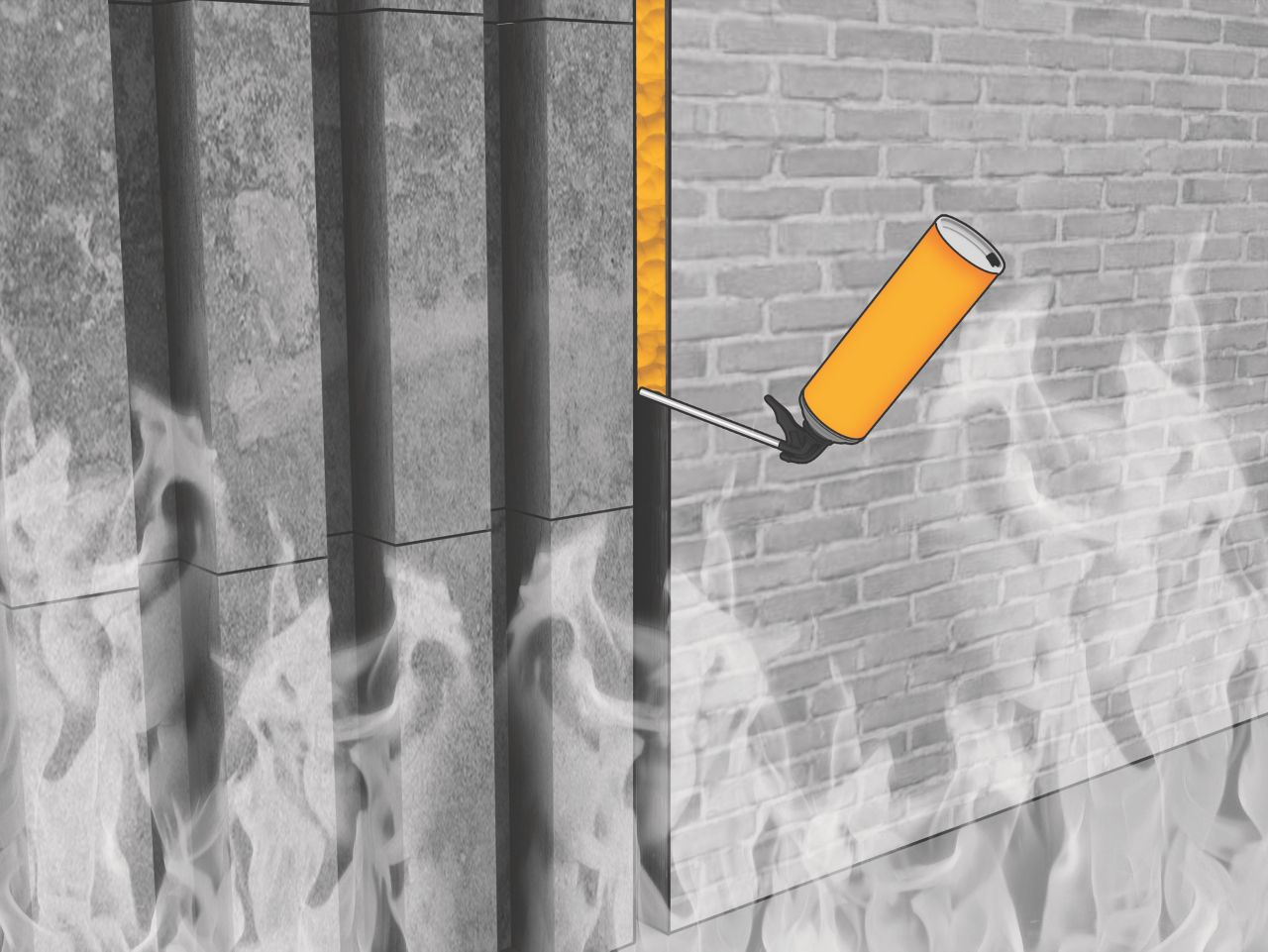 Fire resistant expansion foam for linear seals
