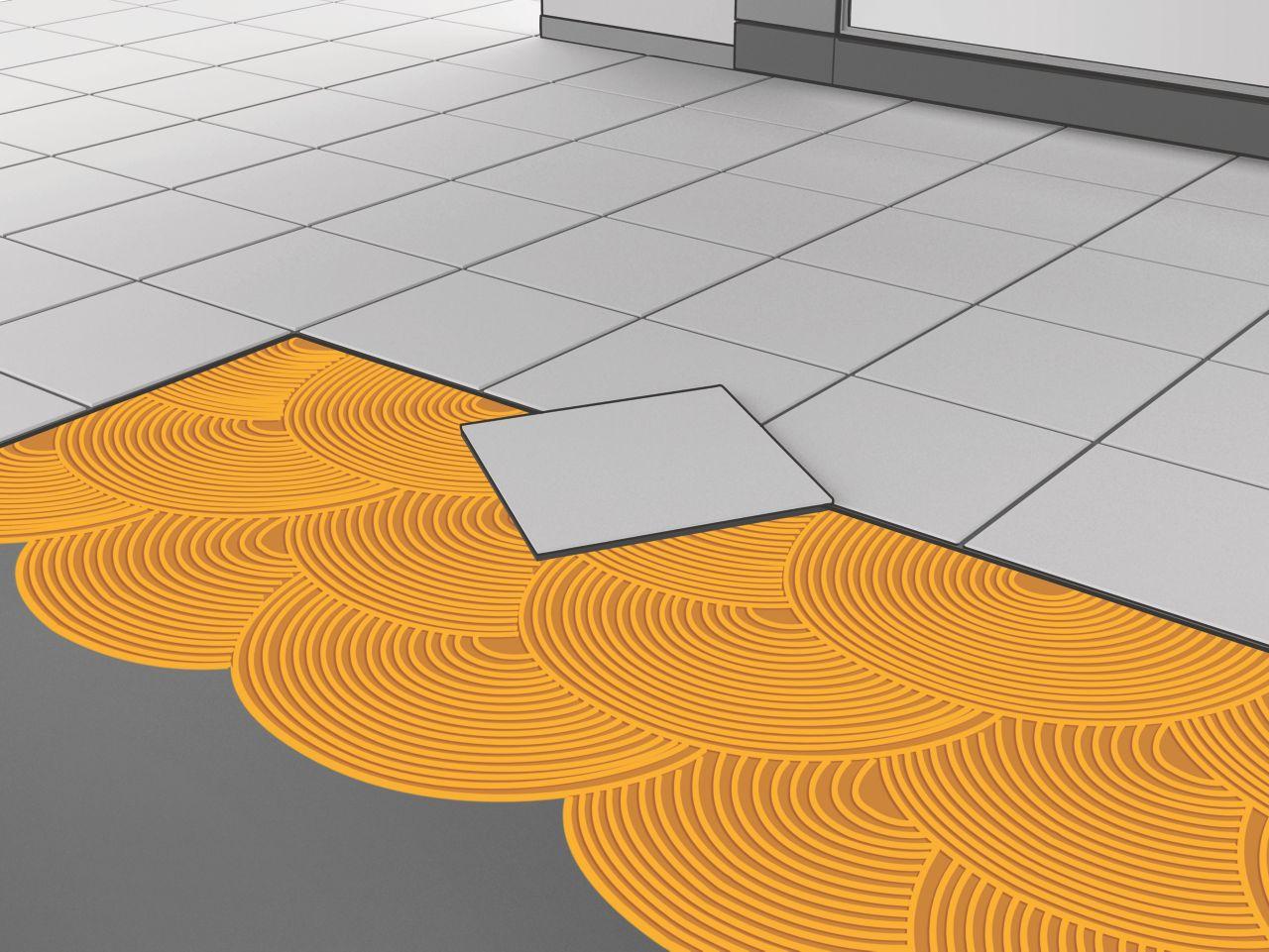 Tile Setting System Illustration