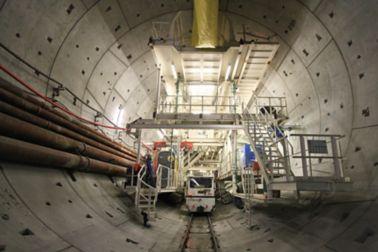 Tunnel boring machine in tunnel construction