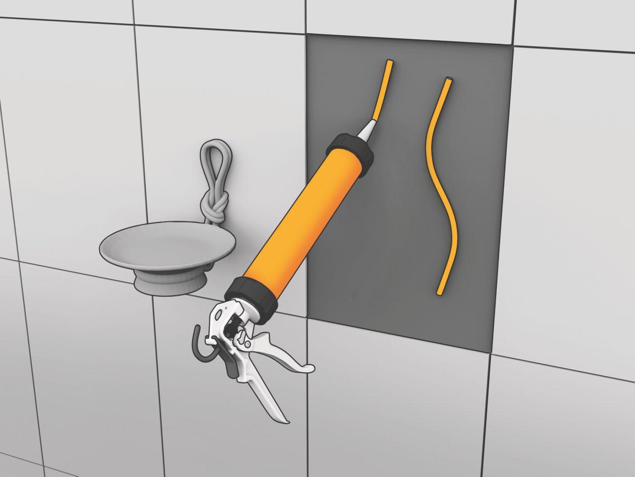 Sikaflex elastic adhesive for tiles