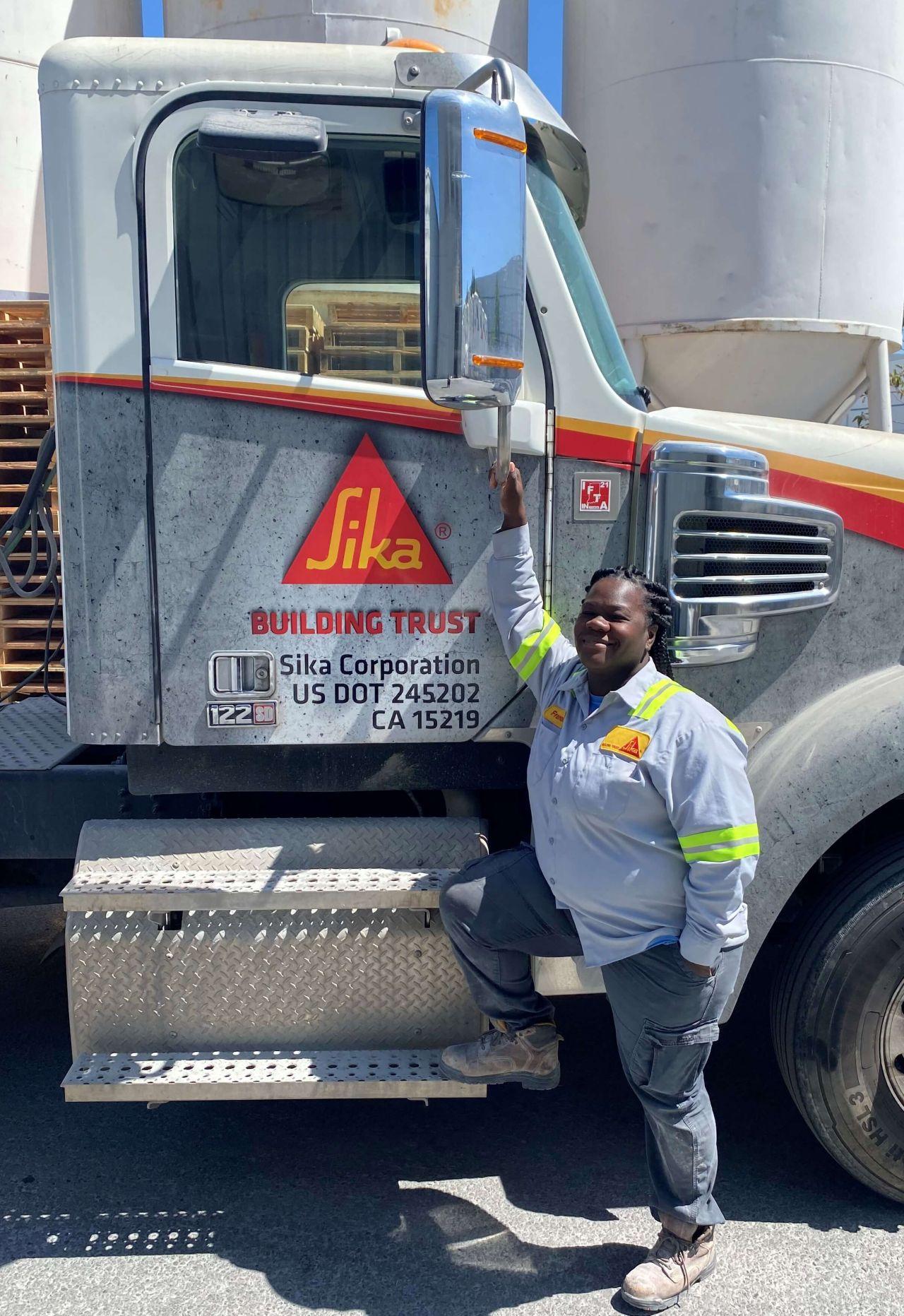 Female Sika Truck Driver