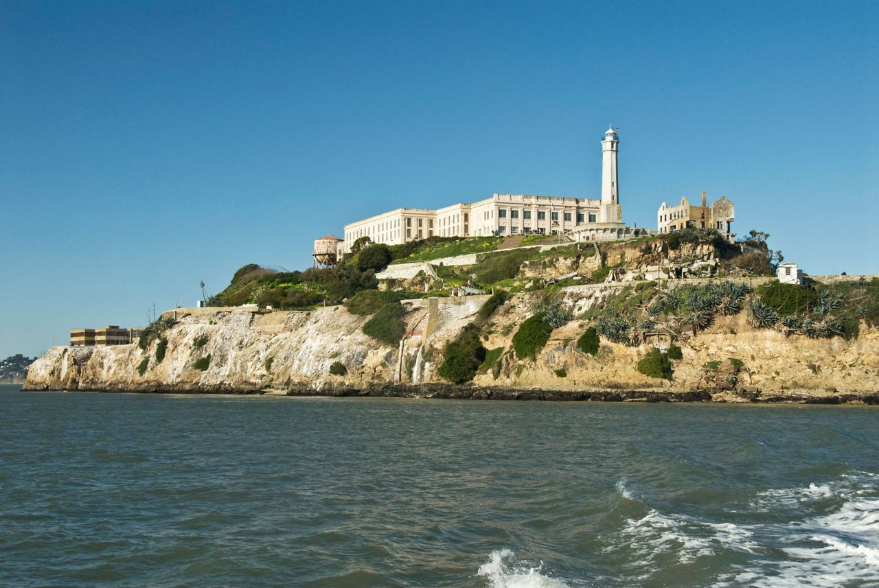 Alcatraz island from the ocean