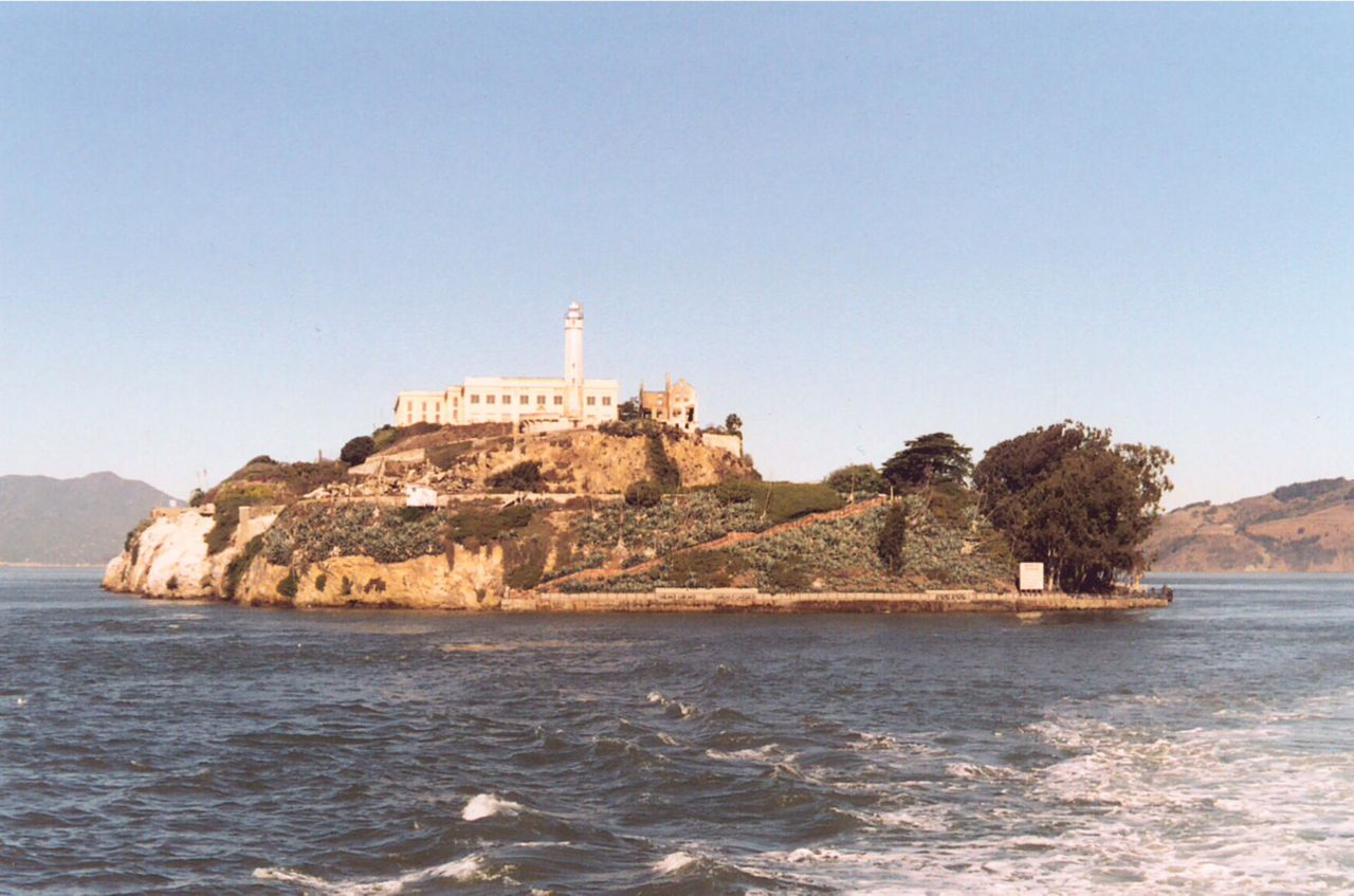 Alcatraz from the ocean