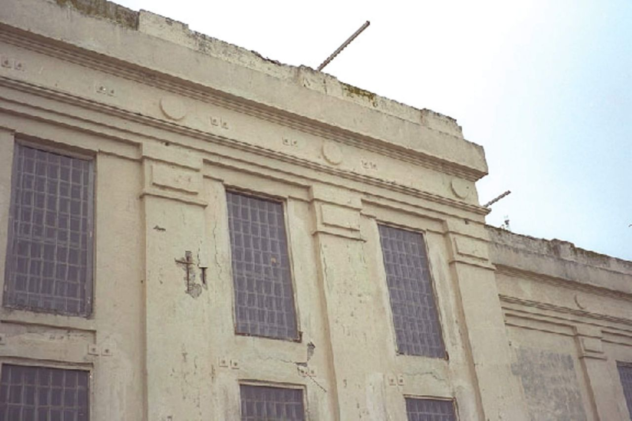 The exterior of Alcatraz Quartermaster damaged