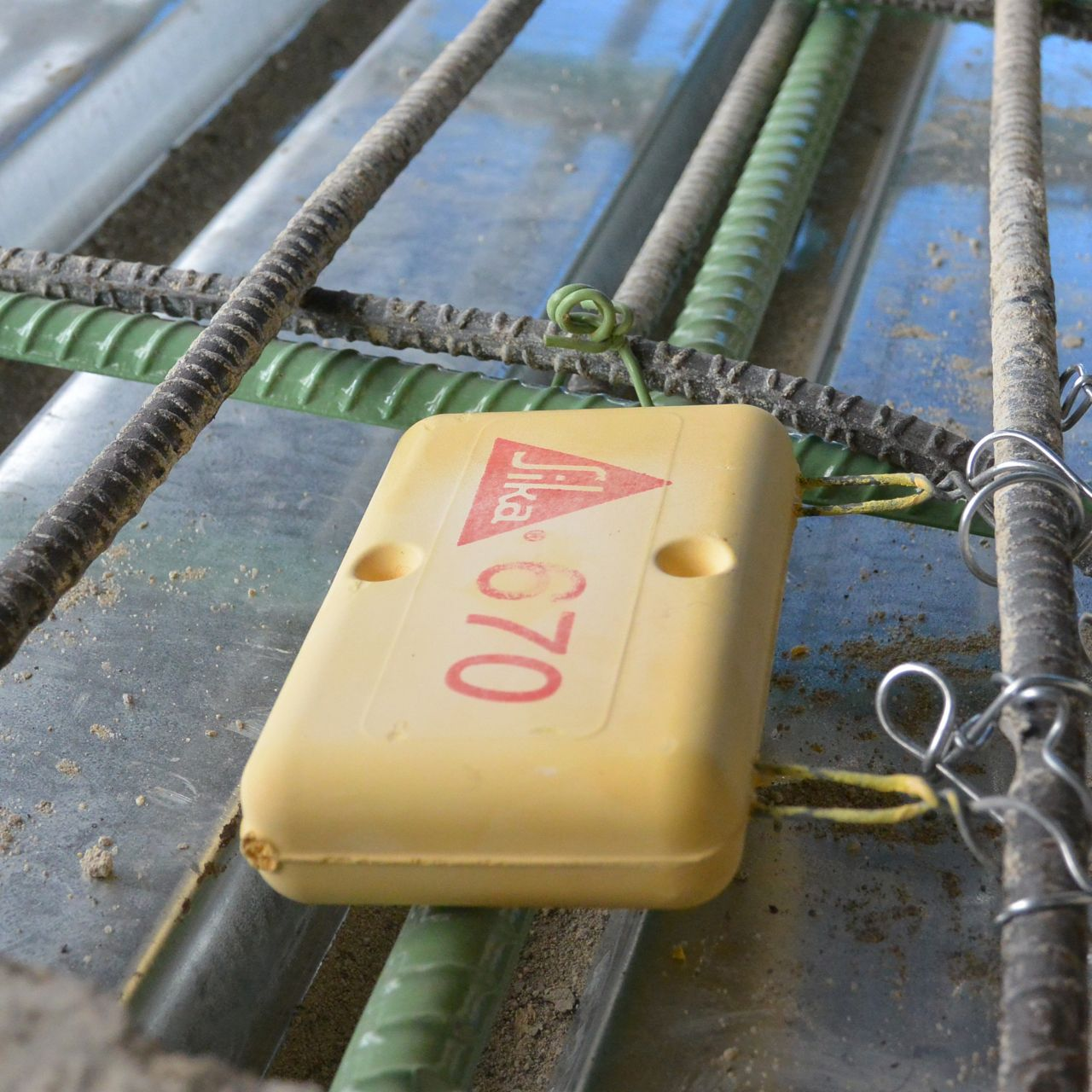 Sika Anodes attached to Rebar