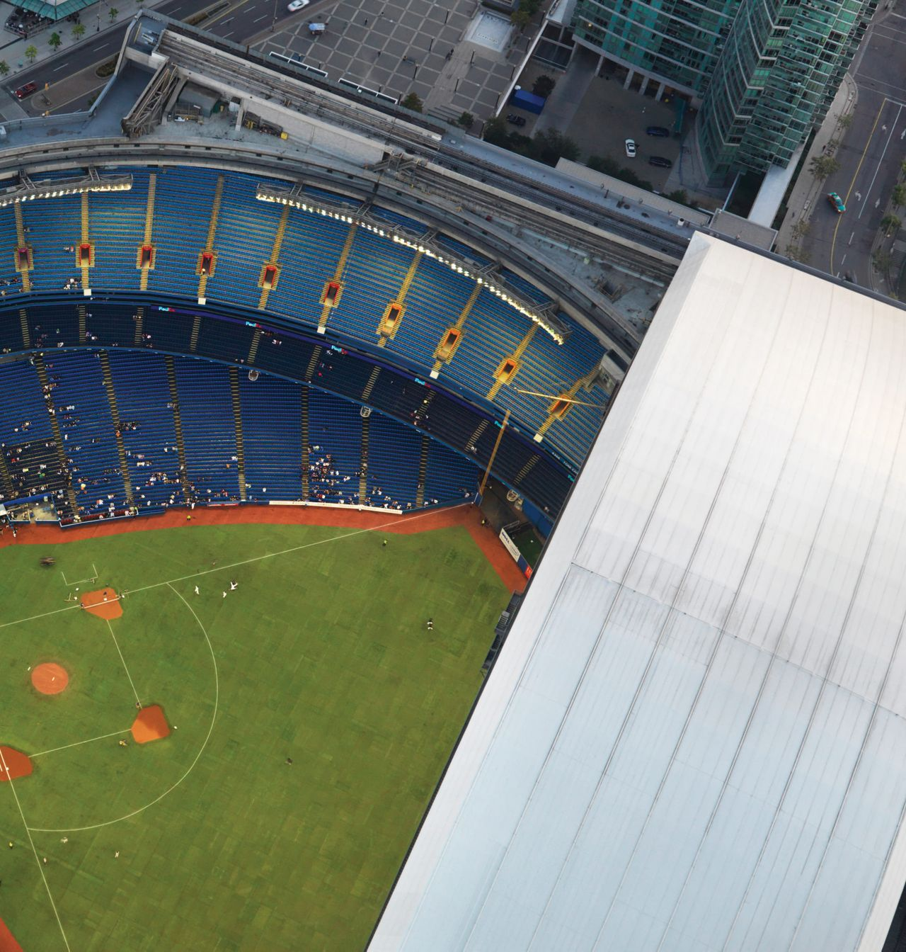 Rogers Centre Aerial View with Roof Open
