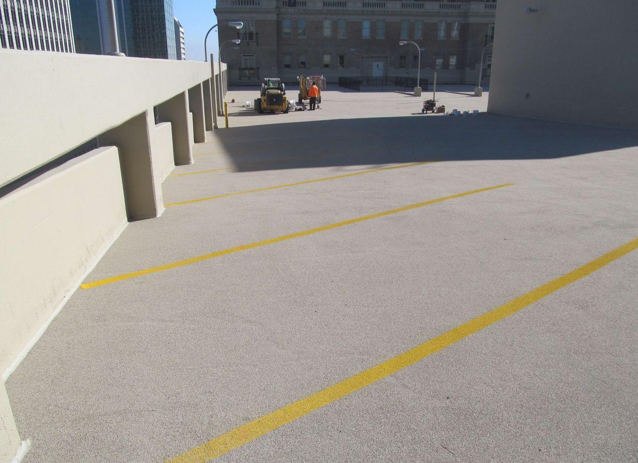 Roof view of Brandies & Son Parking Garage