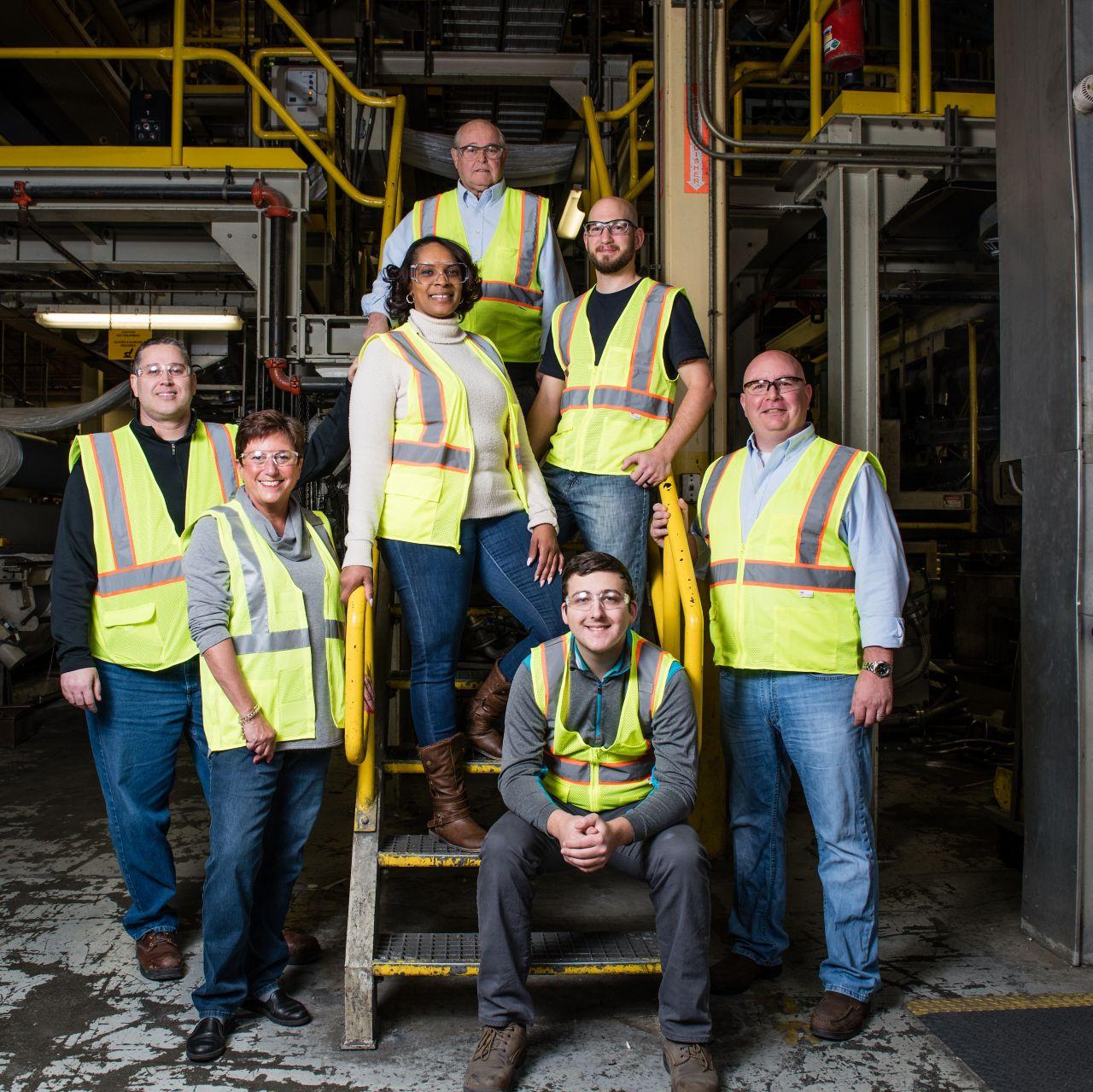 Group of various individuals at a USA Sika Plant