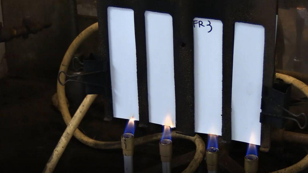 Membrane en PVC d'essai d'incendie