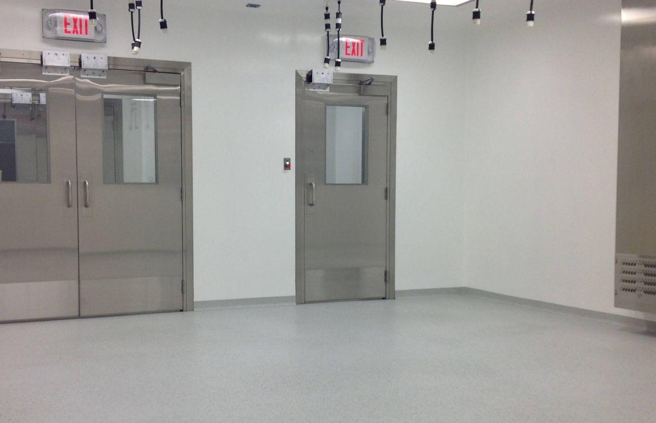 Seamless Wall and Floor Hallway