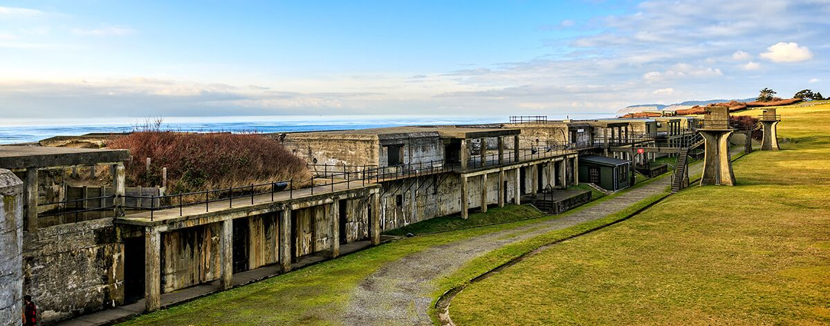 Repair work on Fort Casey in Washington