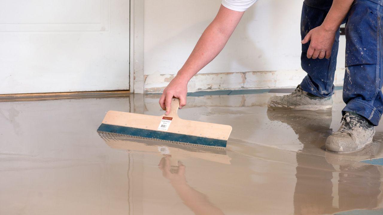 flooring installation hand trowel
