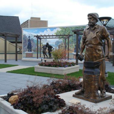 Man at Work Sculpture Garden