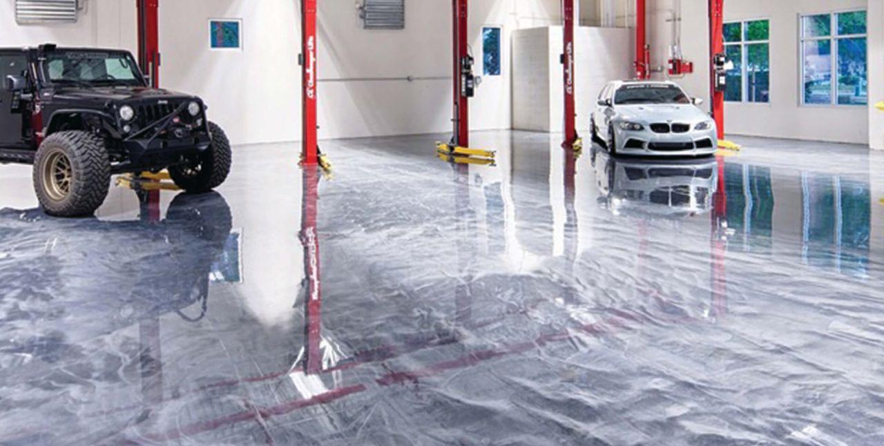 Metallic Floor Garage
