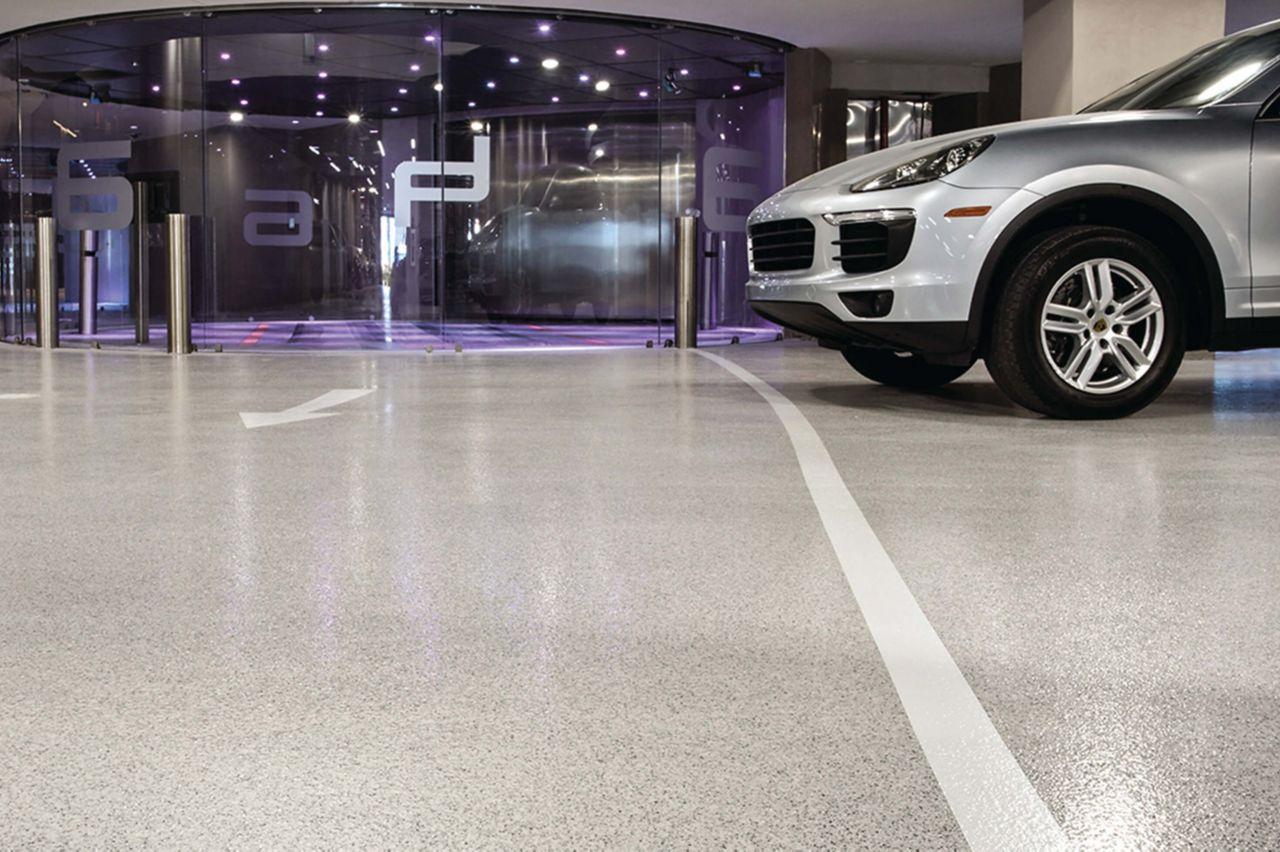 Porsche Center Decoflake Floors
