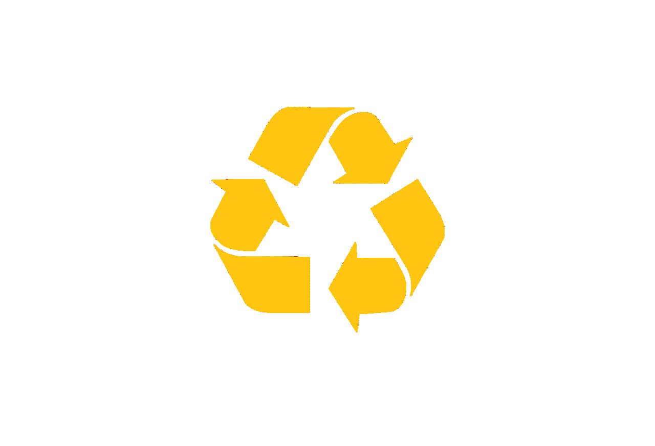 Yellow Recycling Logo