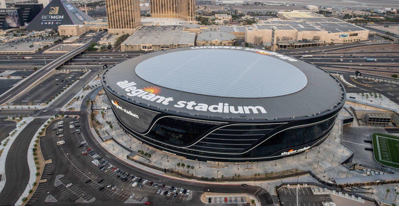 Allegiant Stadium with a Sarnafil Roofing System
