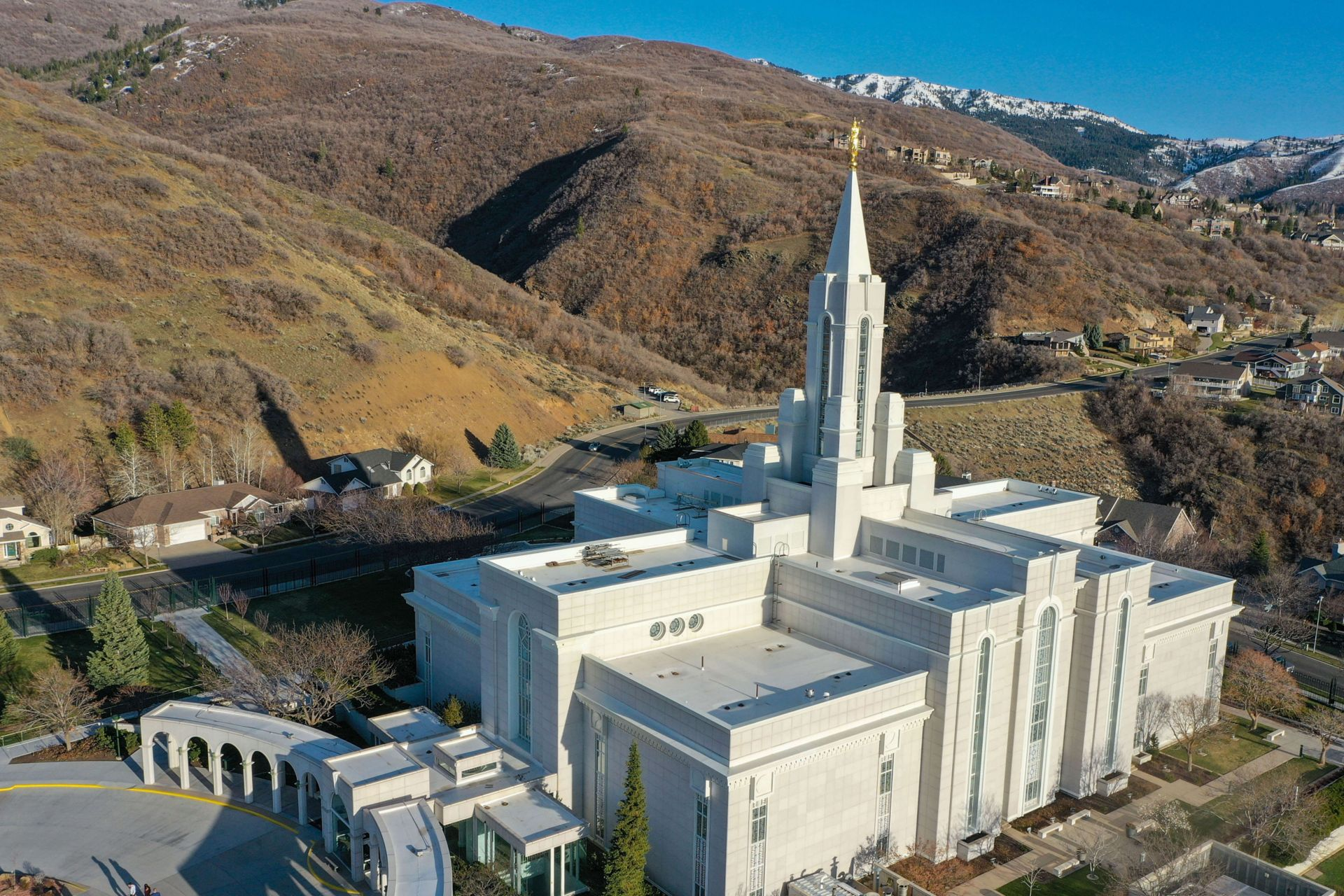 Bountiful Temple with a new Sarnafil white roof