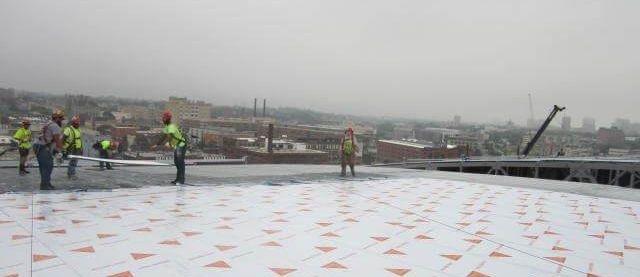 Fiserv Arena roof with Sika Sarnafil Membrane