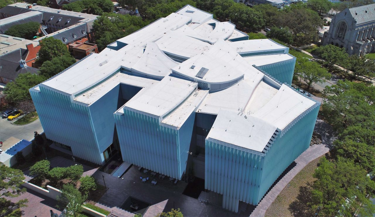 Museum of Fine Arts - Kinder Building, with a Sarnafil Membrane Roofing System