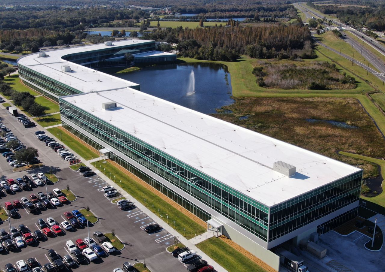 Publix Corporate Headquarters with a Sarnafil Membrane Roofing System
