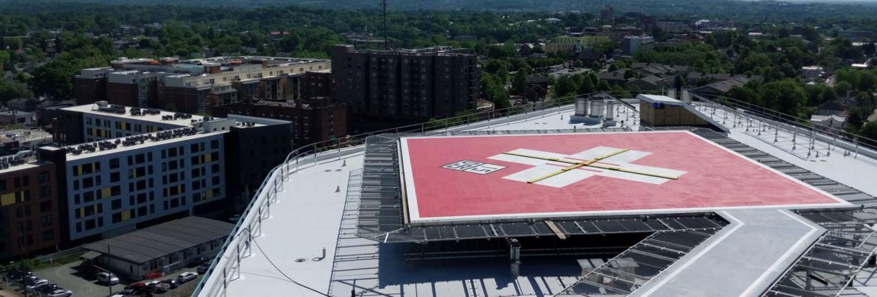 uva hospital expansion rooftop helipad
