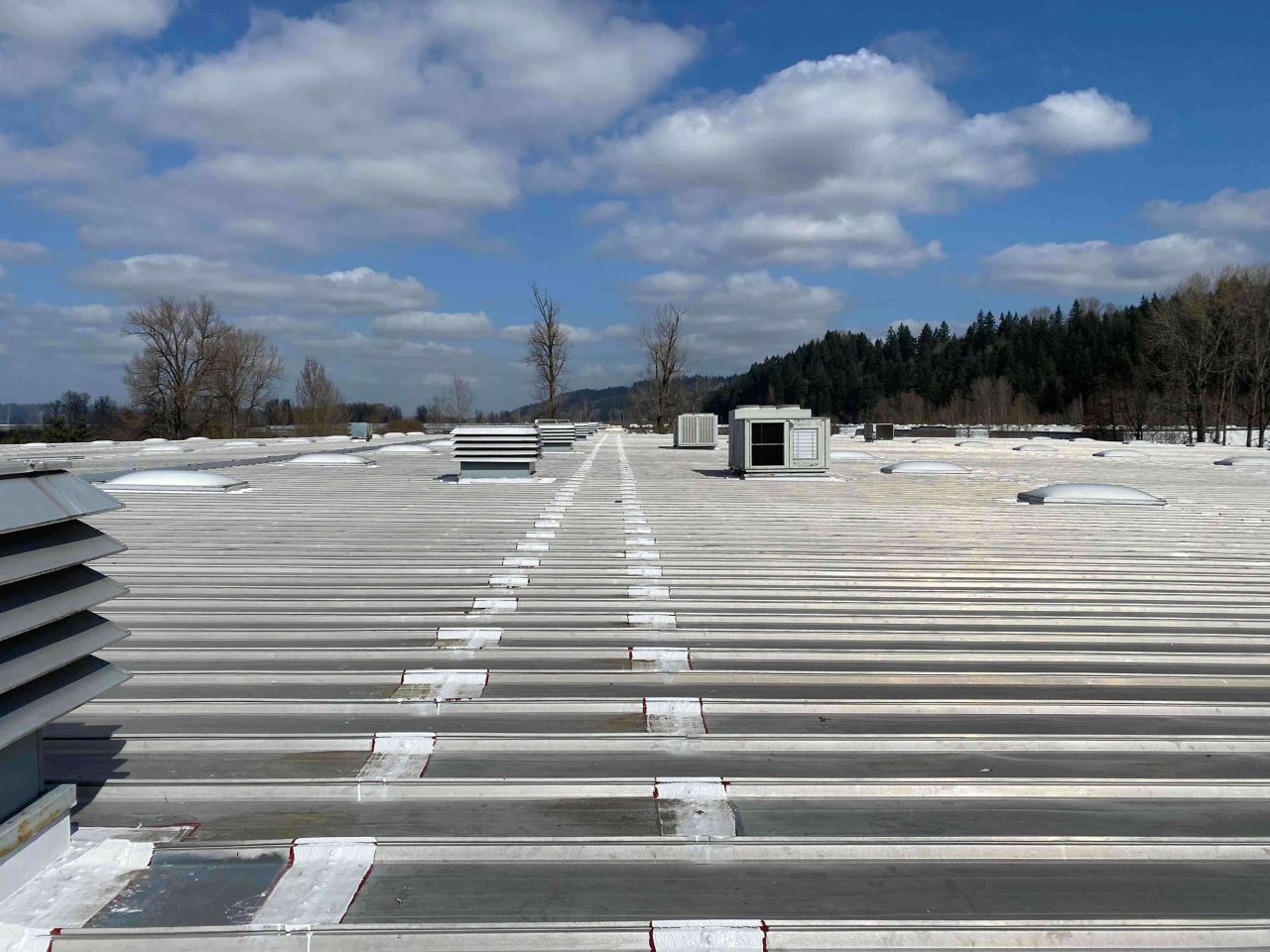 liquid applied roofing on a metal roof