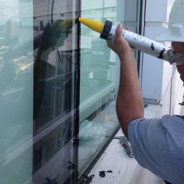 Silicone Sealant Application to Exterior of Building