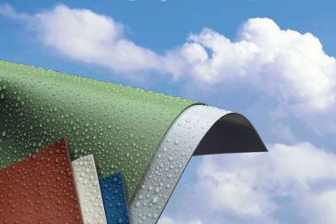 Sarnafil single-ply roof membranes in different colors
