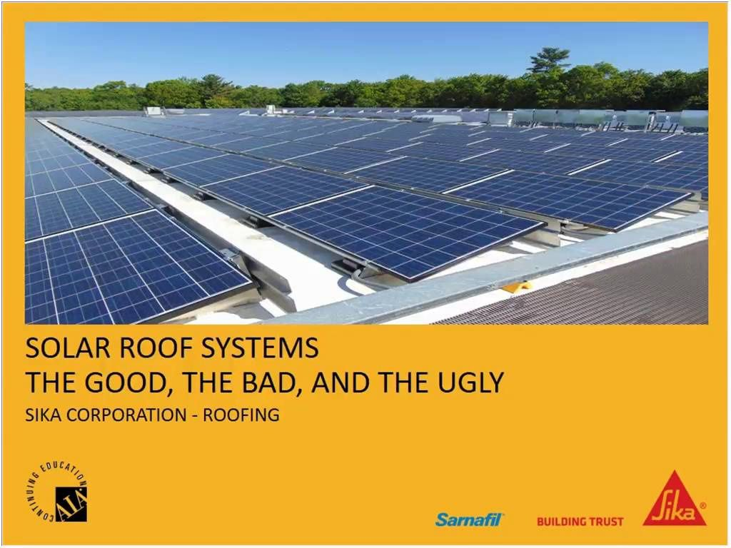 Solar Roof Systems Webinar