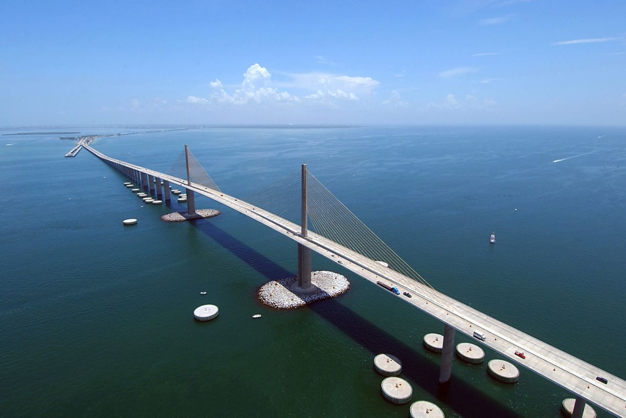 Skyview of the Sunshine Skyway Bridge
