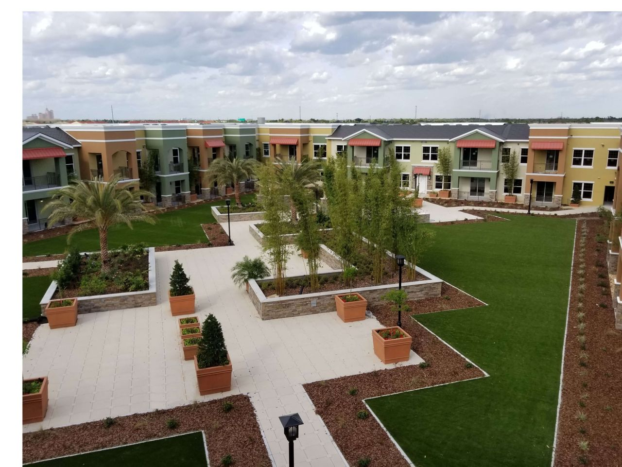 Urbana at Hunter's Creek apartment complex after finished construction