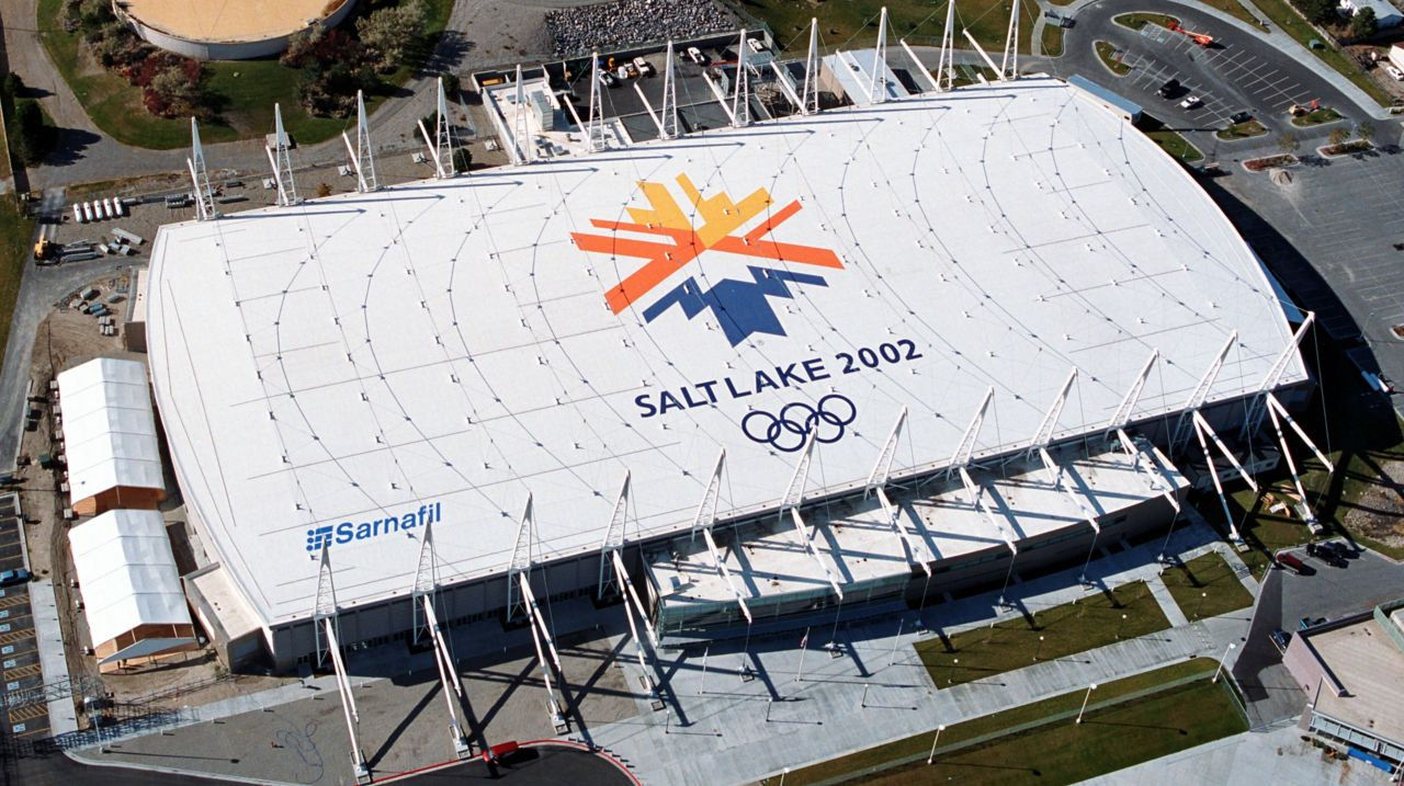 Salt Lake 2002 Olympic Stadium Ariel View