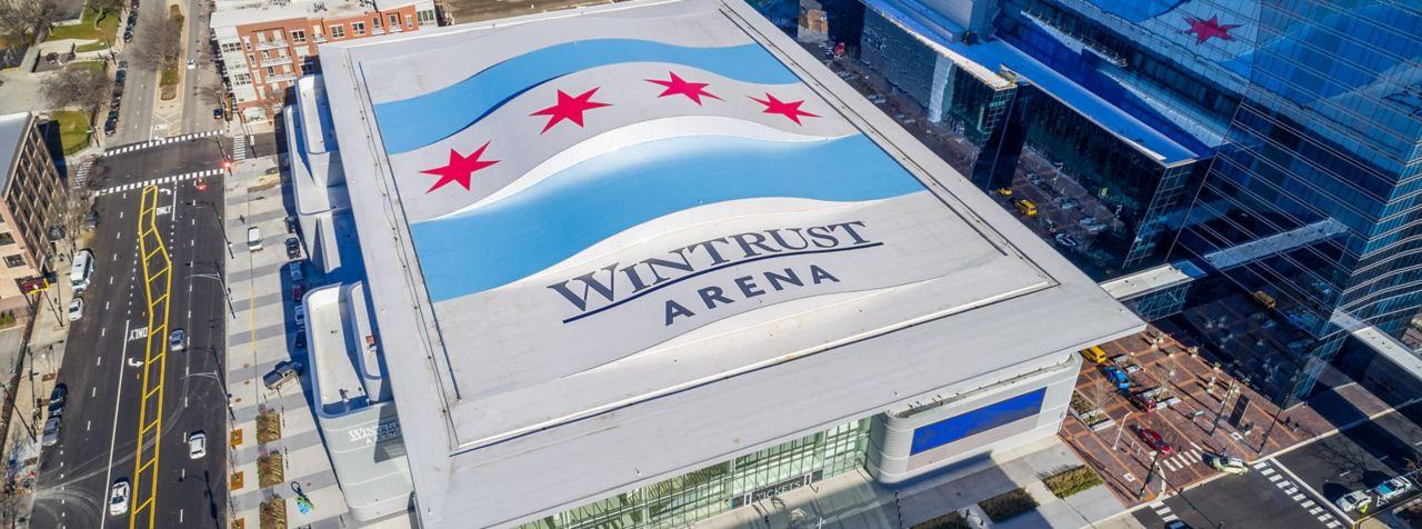Wintrust Arena with a Sarnafil roof