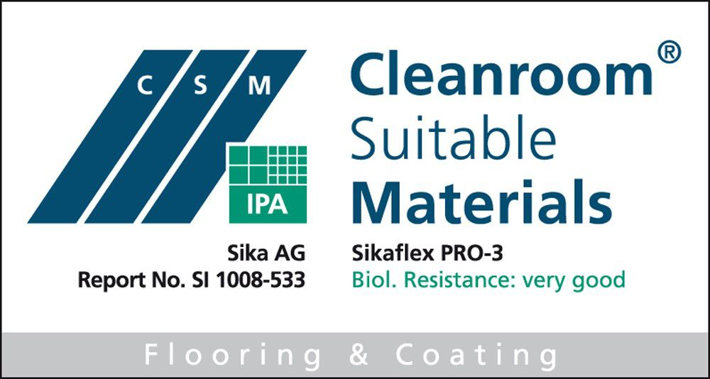 Cleanroom Certificate SI 1008-533 for Sikaflex® PRO-3