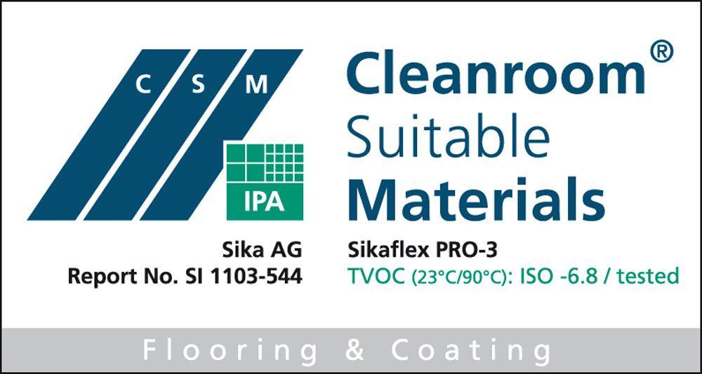 Cleanroom certificate SI 1103-544 Sikaflex® PRO-3