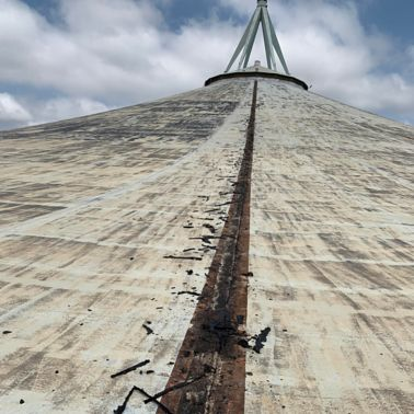 Cable duct exposure of the Durban Heights Reservoir in Reservoir Hills, KZN