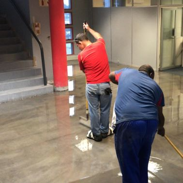 Floor preparation with Sikafloor Primer and Epoxy Resins