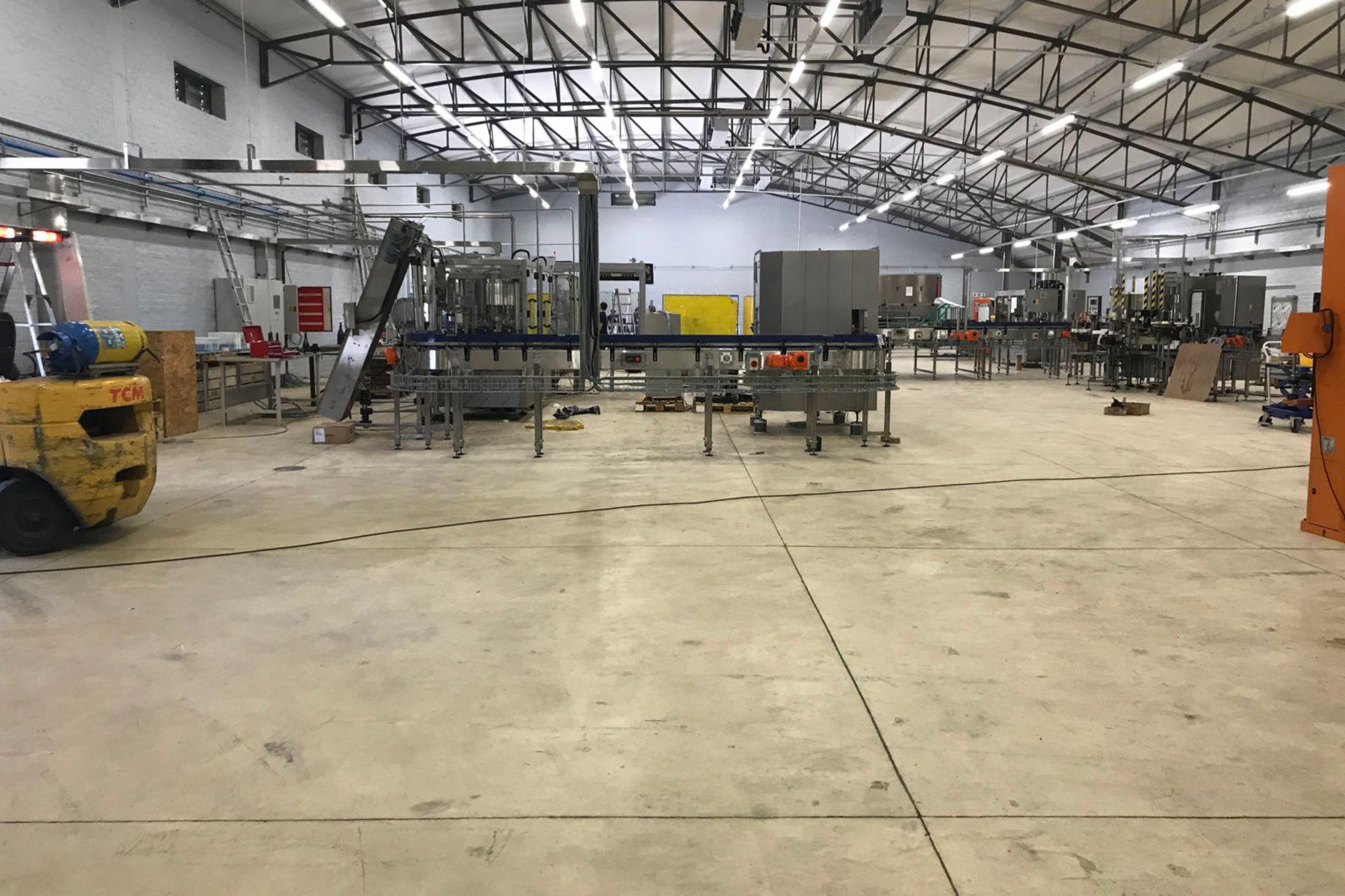 Repairs to crack concrete floor - Graham Beck Wine Estate, Cape Town