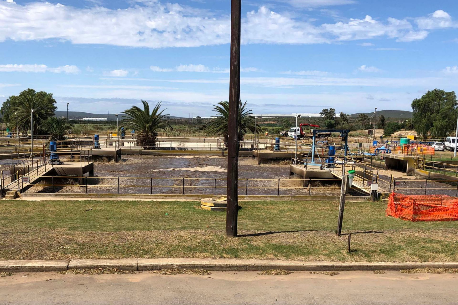 Specialized Sika products for refurbishment for wastewater treatment plant in Kwanobuhle.