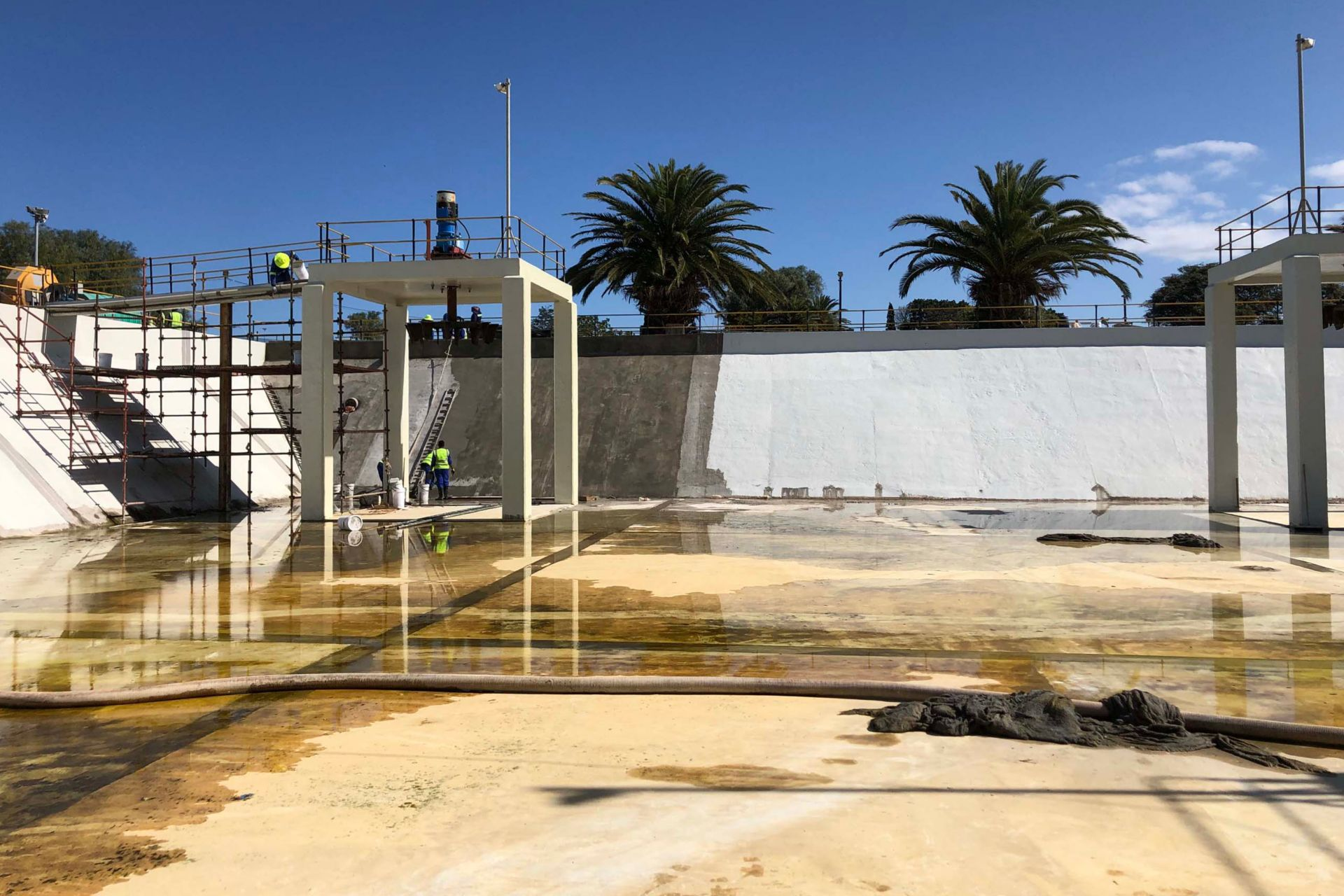 Restoration work in progress at wastewater treatment plant in Kwanobuhle.