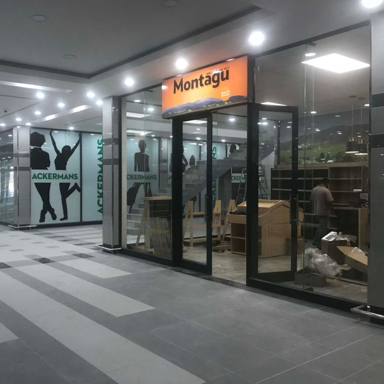 Porcelain tile finish on floors of The Square Shopping Mall in Ladysmith